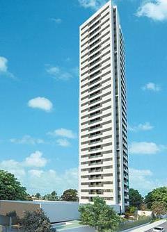 Apartamentos com dois ou três quartos foram planejados para o melhor aproveitamento dos espaços (Pernambuco Construtora/Divulgação)