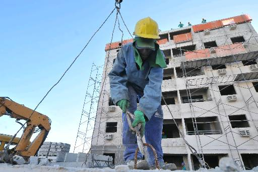 A construção civil está entre os motivos da redução redução do ritmo de queda   - Teresa Maia/DP/D.A.Press