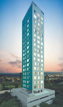 Edifício terá 16 andares com unidades de 26 m2 a 28 m2 - Edifício terá 16 andares com unidades de 26 m2 a 28 m2 (CONSTRUTORA DALLAS/DIVULGAÇÃO)