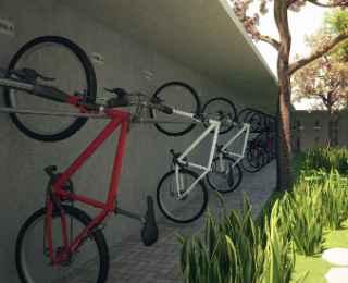 Bicicletários começam a ser incorporados aos novos projetos.  - Moura Dubueux/Divulgação