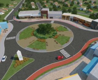Com novo conceito de urbanismo, o Nova Carppina contará lotes comerciais e residenciais  - Norplan Urbanismo/Divulgação