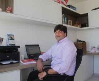Por não receber visitas de clientes, Bruno não teve problema com o sistema adotado - Karina Morais/ESP. DP/D. A. PRESS