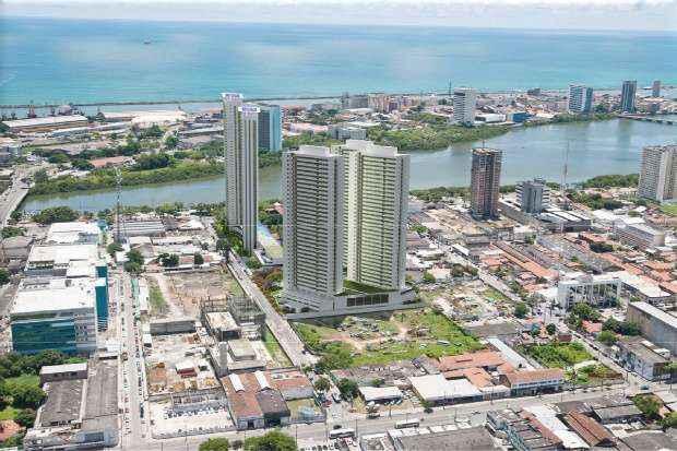Empreendimento está enraizado em um dos principais bairros da região central do Recife.  - Moura Dubeux/Divulgação