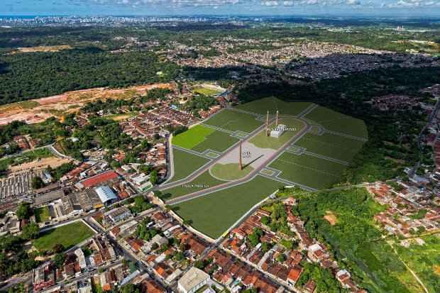 No centro da cidade, o residencial será erguido no antigo terreno da Fábrica Aurora - Construtora Carrilho/Divulgação