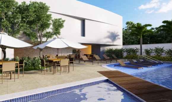 Empreendimentos construídos em quadra de Boa Viagem têm áreas de 56m² a 132m² - Queiroz Galvão/Divulgação