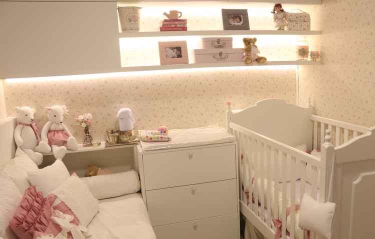 Cores e formas: tons neutros e suaves deixam o quarto do bebê com ares mais tranquilos - Anderson Freire/Esp DP