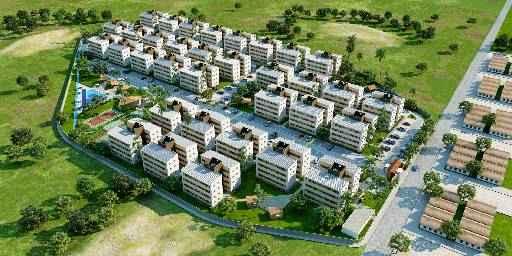 O condomínio Bairro Jardins vai contar com centros comerciais e equipamentos públicos. - O condomínio Bairro Jardins vai contar com centros comerciais e equipamentos públicos.(Eduardo Feitosa/Divulgação)