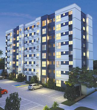 Candeias Ville terá seis torres com oito apartamentos por andar  - Candeias Ville terá seis torres com oito apartamentos por andar (Queiroz Galvão / Divulgação)