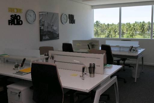 Ambiente para funcionários no escritório do Empresarial Novo Mundo, na Reserva do Paiva - Ambiente para funcionários no escritório do Empresarial Novo Mundo, na Reserva do Paiva (Bruna Monteiro DP/D.A Press)
