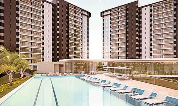 Condomínio terá quatro torres e dois tipos de apartamentos - Condomínio terá quatro torres e dois tipos de apartamentos (Odebrecht Realizações Imobiliárias / Divulgação)