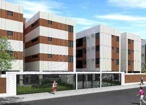 Residencial Montpellier, no Janga, teve três unidades vendidas para pessoas com renda informal - Residencial Montpellier, no Janga, teve três unidades vendidas para pessoas com renda informal (Construtora CA3 / Divulgação)