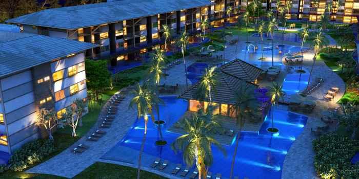 Residence e resort terá 312 flats, além do hotel com 148 quartos - Residence e resort terá 312 flats, além do hotel com 148 quartos (ARA EMPREENDIMENTOS/DIVULGAÇÃO)