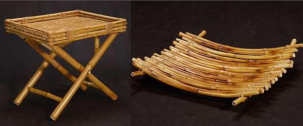 Peças desenvolvidas pelo mestre bambuzeiro Lúcio Ventania - Peças desenvolvidas pelo mestre bambuzeiro Lúcio Ventania (Netun Lima/Divulgação)