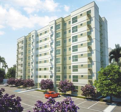 Laguna Ville é indicado pela construtora para solteiros ou famílias pequenas - Laguna Ville é indicado pela construtora para solteiros ou famílias pequenas (QUEIROZ GALVÃO/DIVULGAÇÃO)