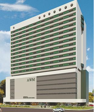 Torre terá 21 pavimentos, com 168 flats e 168 salas comerciais - Torre terá 21 pavimentos, com 168 flats e 168 salas comerciais  (AWM/DIVULGAÇÃO)