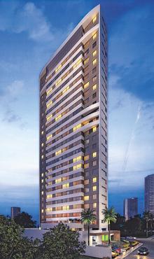 Torre terá 24 pavimentos com um total de 144 apartamentos - Torre terá 24 pavimentos com um total de 144 apartamentos (CONSTRUTORA BAPTISTA LEAL/DIVULGAÇÃO)