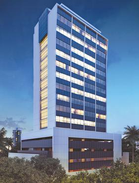 Torre terá 16 pavimentos, com áreas de 308 m2 a 333 m2 - Torre terá 16 pavimentos, com áreas de 308 m2 a 333 m2 (CONSTRUTORA RENEL/DIVULGAÇÃO)