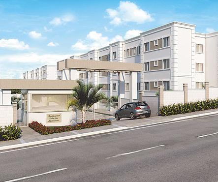 Villa das Palmeiras terá 288 apartamentos de 35 m2 a 49 m2 - Villa das Palmeiras terá 288 apartamentos de 35 m2 a 49 m2 (MRV ENGENHARIA E VIVEX/DIVULGAÇÃO)