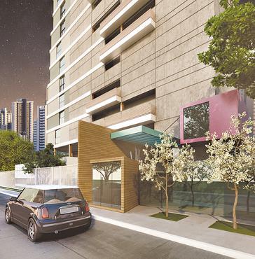 Torre terá seis pavimentos e um total de 79 unidades com áreas privativas em tamanhos diferentes - Torre terá seis pavimentos e um total de 79 unidades com áreas privativas em tamanhos diferentes (CONSTRUTORA MAX PLURAL/DIVULGAÇÃO)