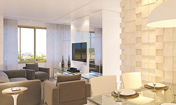 Edifício na Várzea conta com apartamentos de 62 e 64 metros quadrados - Edifício na Várzea conta com apartamentos de 62m2 e 64m2 (CONSTRUTORA CASTRO NEVES/DIVULGAÇÃO)