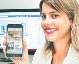 Maria Eduarda Dubeux conta que ação da empresa nas redes sociais tem fidelizado relação com os clientes.  - ANNACLARICE ALMEIDA/ DP/ D.A PRESS