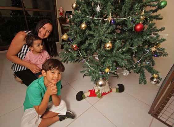 Andrea Mendes se preocupa com a segurança dos filhos - Roberto Ramos/DP