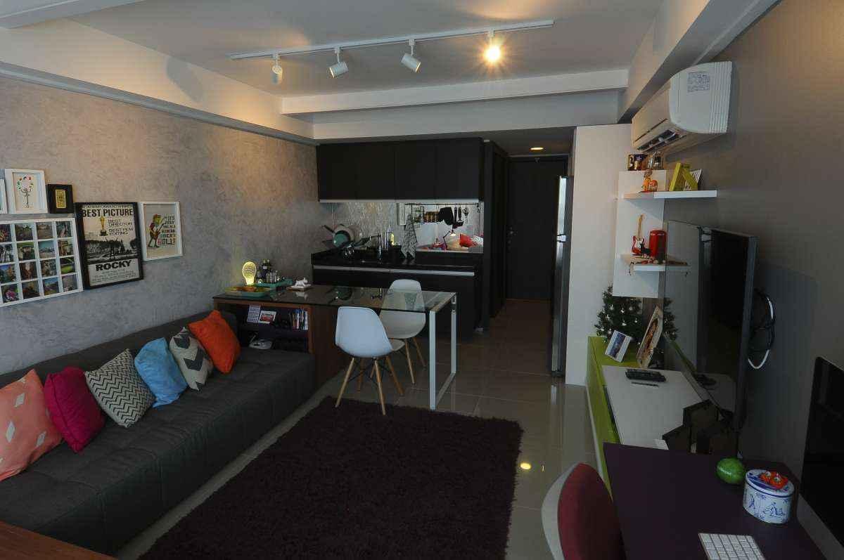 Apartamentos como o da arquiteta Manoela Pires de 28 m² são legos da vida real