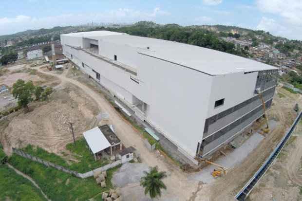 Paredes de drywall estão sendo utilizadas na cosntrução do Camará Shopping - Camará Shopping/Divulgação