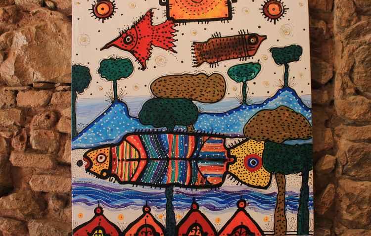 Quadros com desenhos lúdicos também deixa a casa com a cara do carnaval - Marlon Diego/Esp. DP